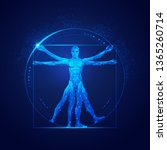 Graphic Of Vitruvian Man In...