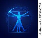 Graphic Of Vitruvian Man In...