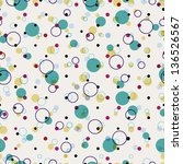 polka dots and circles... | Shutterstock .eps vector #136526567