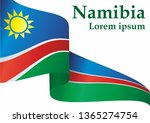 flag of namibia  republic of... | Shutterstock .eps vector #1365274754
