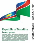flag of namibia  republic of... | Shutterstock .eps vector #1365274784