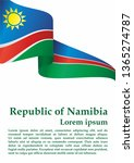 flag of namibia  republic of... | Shutterstock .eps vector #1365274787