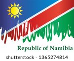 flag of namibia  republic of... | Shutterstock .eps vector #1365274814