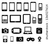 gadget vector black and white | Shutterstock .eps vector #136527614