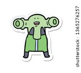 sticker of a friendly cartoon... | Shutterstock . vector #1365276257