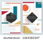 two abstract retro vertical... | Shutterstock .eps vector #1365282347