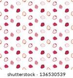 strawberry vector seamless... | Shutterstock .eps vector #136530539
