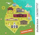 argentina capital buenos aires... | Shutterstock .eps vector #1365307757