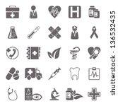 medicine basic icons | Shutterstock .eps vector #136532435