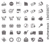 shopping basic icons | Shutterstock .eps vector #136533077