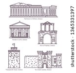 set of line isolated greek... | Shutterstock .eps vector #1365331397