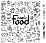 Doodle Food Set Of 50 Various...