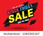 sale banner template design ... | Shutterstock .eps vector #1365342167