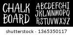 vector handmade roman alphabet  ... | Shutterstock .eps vector #1365350117