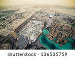 the top view on dubai from the... | Shutterstock . vector #136535759