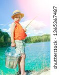 Happy Child Fishes Off The...