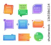 quote boxes. paragraph marks... | Shutterstock .eps vector #1365386114