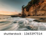waves in the pacific ocean and...   Shutterstock . vector #1365397514