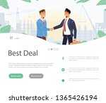 handshake business agreement.   ... | Shutterstock .eps vector #1365426194