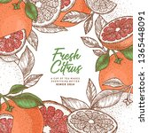 grapefruit design template.... | Shutterstock .eps vector #1365448091