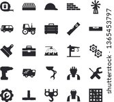 solid vector icon set   crane... | Shutterstock .eps vector #1365453797