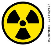 black and yellow radioactive... | Shutterstock .eps vector #1365469637
