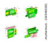 abstract mega sale flat badges... | Shutterstock . vector #1365483281
