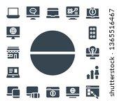 responsive icon set. 17 filled... | Shutterstock .eps vector #1365516467