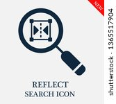 search reflect icon. editable... | Shutterstock .eps vector #1365517904