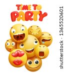 time to party invitation card... | Shutterstock .eps vector #1365520601