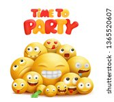time to party invitation card... | Shutterstock .eps vector #1365520607
