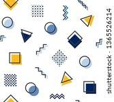 memphis style geometric...   Shutterstock .eps vector #1365526214