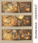 set of banners  coffee | Shutterstock .eps vector #136554317
