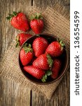 strawberry in a bowl | Shutterstock . vector #136554599