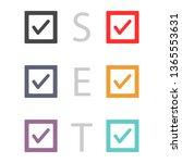 tick vector icon | Shutterstock .eps vector #1365553631