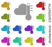 thermometer  cloud  heat multi...