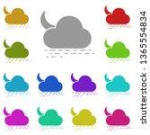 sea  cloud  moon multi color...