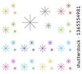 snow multi color icon. simple...