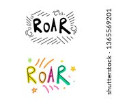 roar dino lettering phrase....   Shutterstock .eps vector #1365569201
