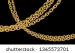 gold chains jewelry on black... | Shutterstock .eps vector #1365573701