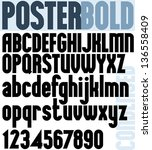 poster bold classic style font  ... | Shutterstock .eps vector #136558409