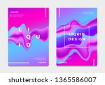 abstract gradient poster and... | Shutterstock .eps vector #1365586007