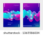 abstract gradient poster and... | Shutterstock .eps vector #1365586034