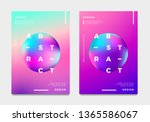 abstract gradient poster and... | Shutterstock .eps vector #1365586067
