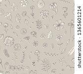 tender beige floral seamless... | Shutterstock .eps vector #1365601214