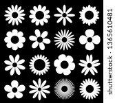 white daisy chamomile... | Shutterstock .eps vector #1365610481