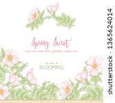 dog rose  briar  brier ... | Shutterstock .eps vector #1365624014