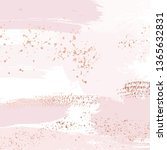 vector nude rose brush strokes... | Shutterstock .eps vector #1365632831
