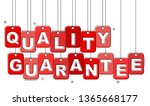 red flat line tag quality... | Shutterstock .eps vector #1365668177