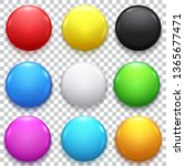 realistic 3d empty color blank... | Shutterstock .eps vector #1365677471